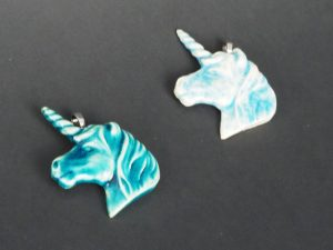 Unicorn pendants by Cathelijne Filippo